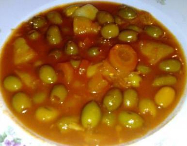 Olives en sauce