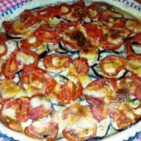 Tarte tomate, aubergine et mozarella