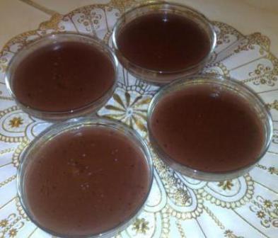 Crème au chocolat sans gluten et sans oeufs