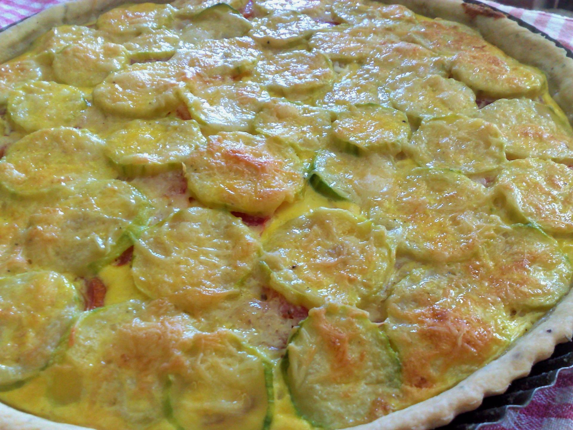 Tarte printanière thon - courgettes
