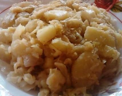 Emincé de chou aux pommes de terre