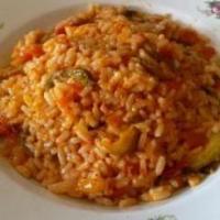 Riz en sauce ratatouille
