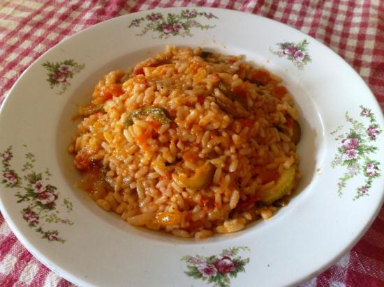 Riz en sauce ratatouille CARSG