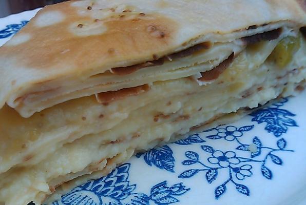 Gâteau de crêpes à la vanille et aux figues