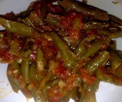 Haricots verts au piment