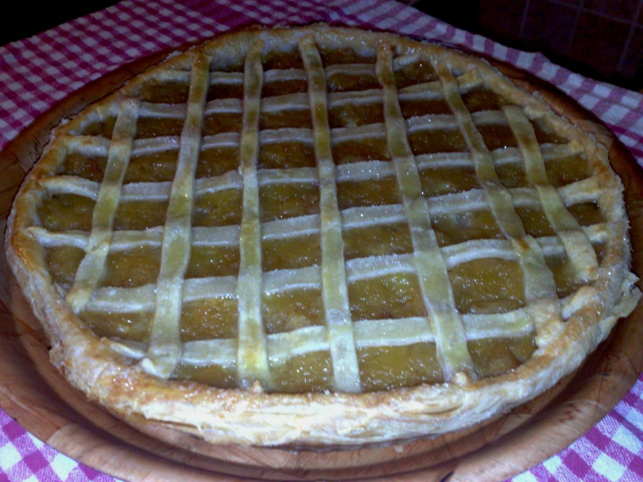 Tarte quadrill e la compote de pommes - Tarte aux pommes compote maison ...