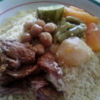 Mini couscous sauce blanche